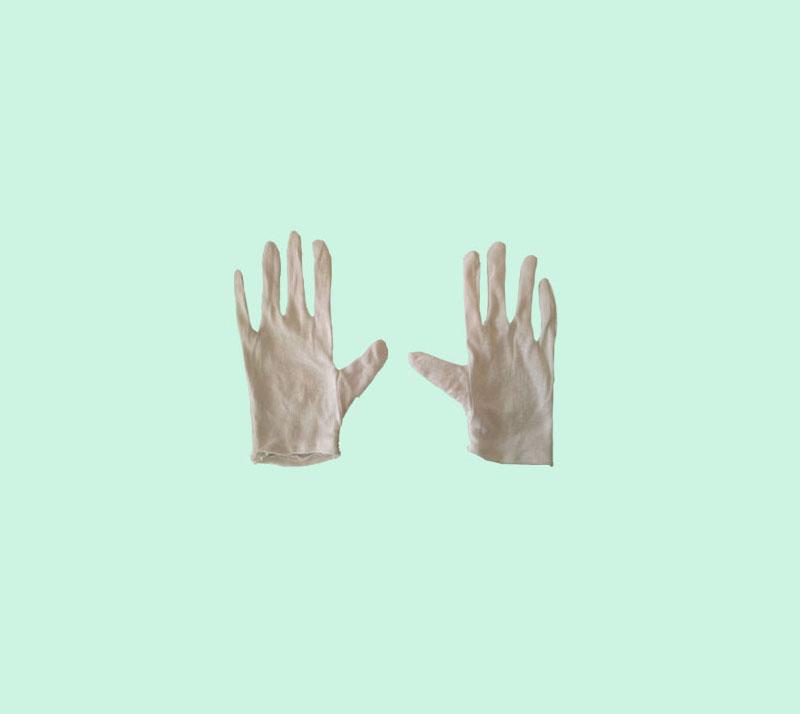 白色纯棉手套